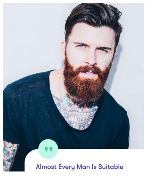 beard transplant suitability